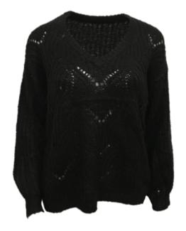 trui gebreid zwart